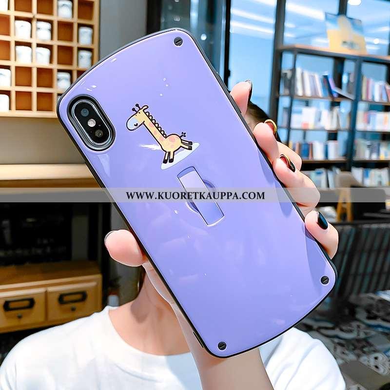 Kuori iPhone Xs, Kuoret iPhone Xs, Kotelo iPhone Xs Persoonallisuus Luova Murtumaton Sarjakuva Viole