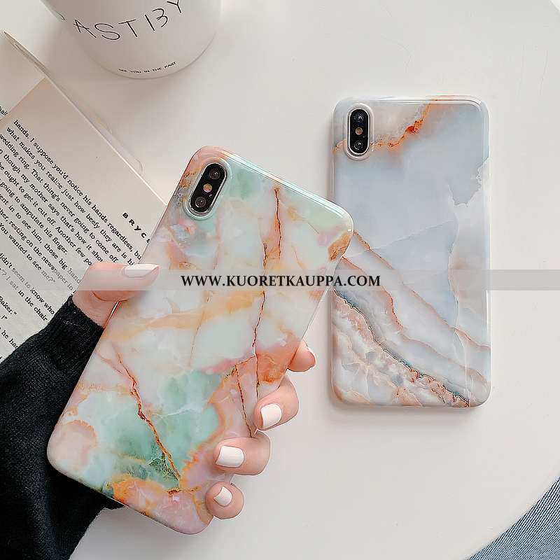 Kuori iPhone Xs, Kuoret iPhone Xs, Kotelo iPhone Xs Silikoni Kukkakuvio Puhelimen Vihreä Pehmeä Nest