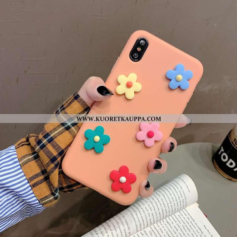 Kuori iPhone Xs, Kuoret iPhone Xs, Kotelo iPhone Xs Silikoni Pehmeä Neste Oranssi Puhelimen