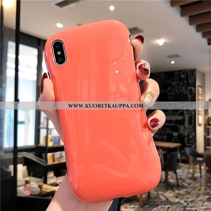 Kuori iPhone Xs, Kuoret iPhone Xs, Kotelo iPhone Xs Suojaus Pehmeä Neste Oranssi Rakastunut Puhelime