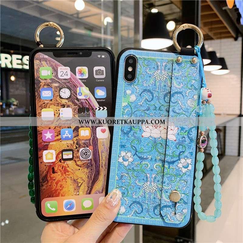 Kuori iPhone Xs, Kuoret iPhone Xs, Kotelo iPhone Xs Suojaus Vuosikerta Pehmeä Neste Sininen
