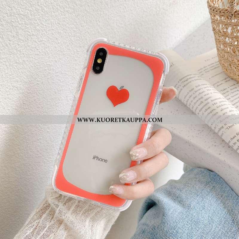 Kuori iPhone Xs, Kuoret iPhone Xs, Kotelo iPhone Xs Suuntaus Silikoni Punainen Murtumaton All Inclus
