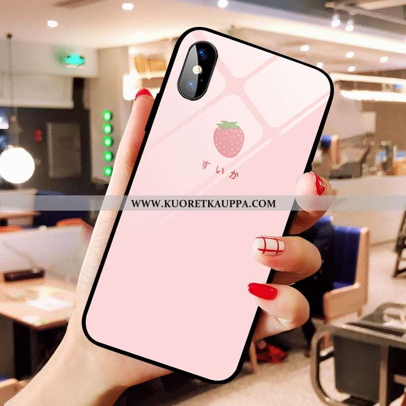 Kuori iPhone Xs Max, Kuoret iPhone Xs Max, Kotelo iPhone Xs Max Lasi Sarjakuva Mansikka Jauhe Net Re