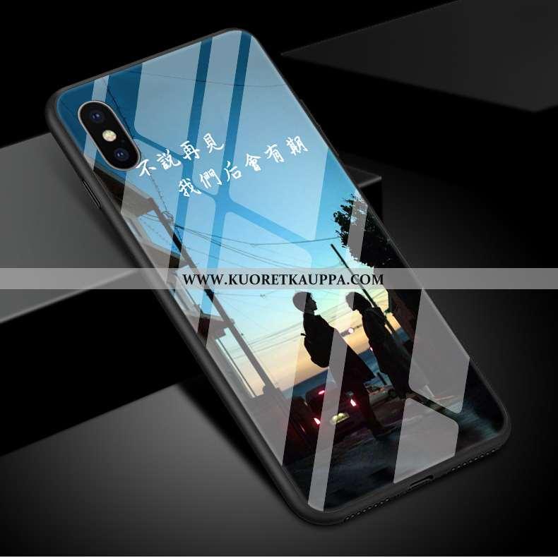Kuori iPhone Xs Max, Kuoret iPhone Xs Max, Kotelo iPhone Xs Max Lasi Suojaus Tyylikäs Peili Sininen