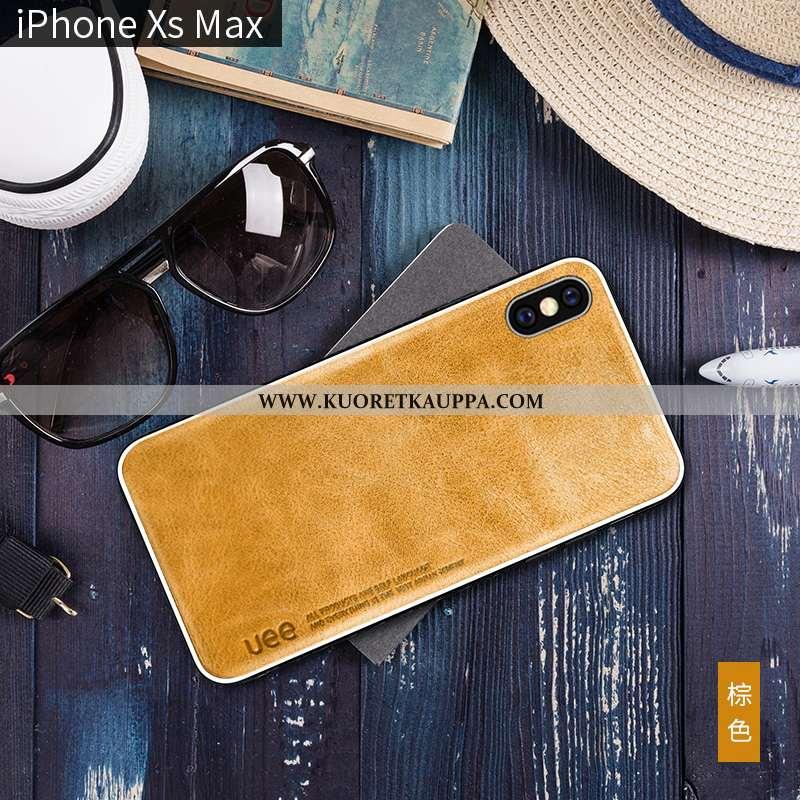 Kuori iPhone Xs Max, Kuoret iPhone Xs Max, Kotelo iPhone Xs Max Nahka Suuntaus All Inclusive Aito Na