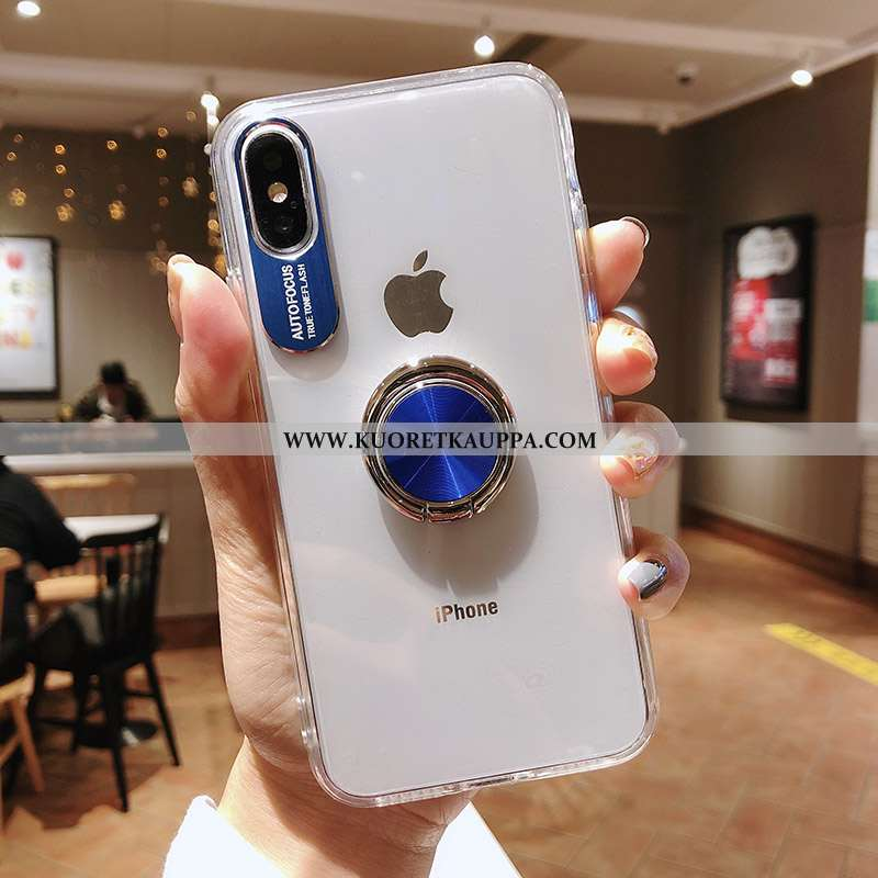 Kuori iPhone Xs Max, Kuoret iPhone Xs Max, Kotelo iPhone Xs Max Silikoni Suojaus Niitti Auto Tummans