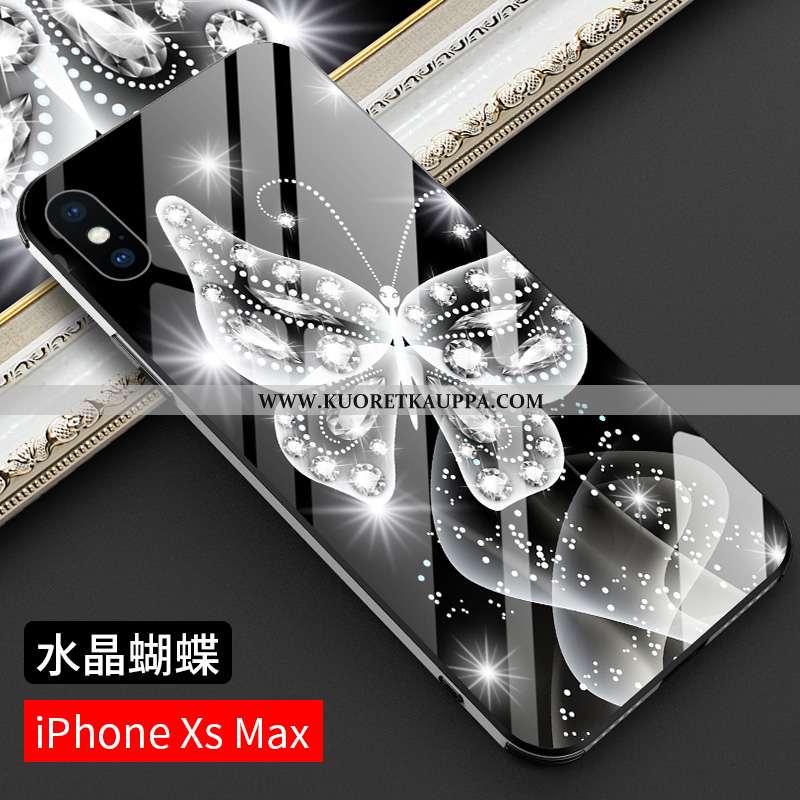 Kuori iPhone Xs Max, Kuoret iPhone Xs Max, Kotelo iPhone Xs Max Silikoni Suojaus Uusi Suuntaus Musta