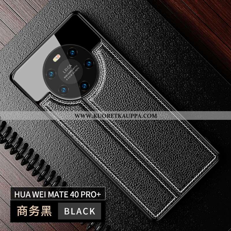 Kuori Huawei Mate 40 Pro+, Kuoret Huawei Mate 40 Pro+, Kotelo Huawei Mate 40 Pro+ Luova Nahka Peili