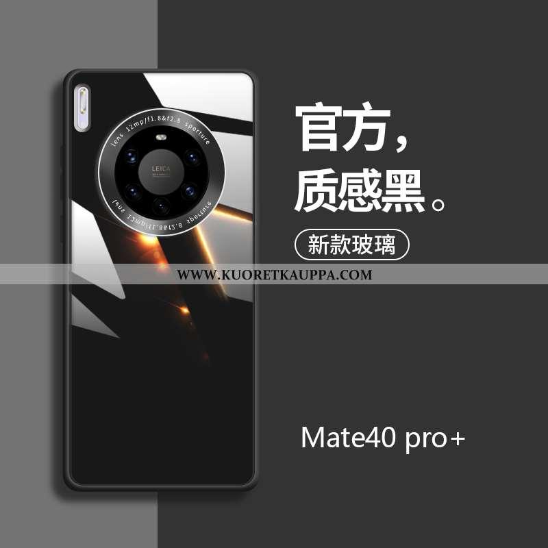 Kuori Huawei Mate 40 Pro+, Kuoret Huawei Mate 40 Pro+, Kotelo Huawei Mate 40 Pro+ Silikoni Lasi Must