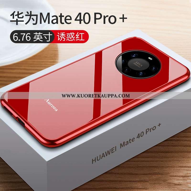 Kuori Huawei Mate 40 Pro+, Kuoret Huawei Mate 40 Pro+, Kotelo Huawei Mate 40 Pro+ Suojaus Lasi Punai