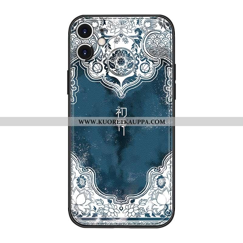 Kuori iPhone 12, Kuoret iPhone 12, Kotelo iPhone 12 Kukkakuvio Suuntaus Uusi Puhelimen Tummansiniset