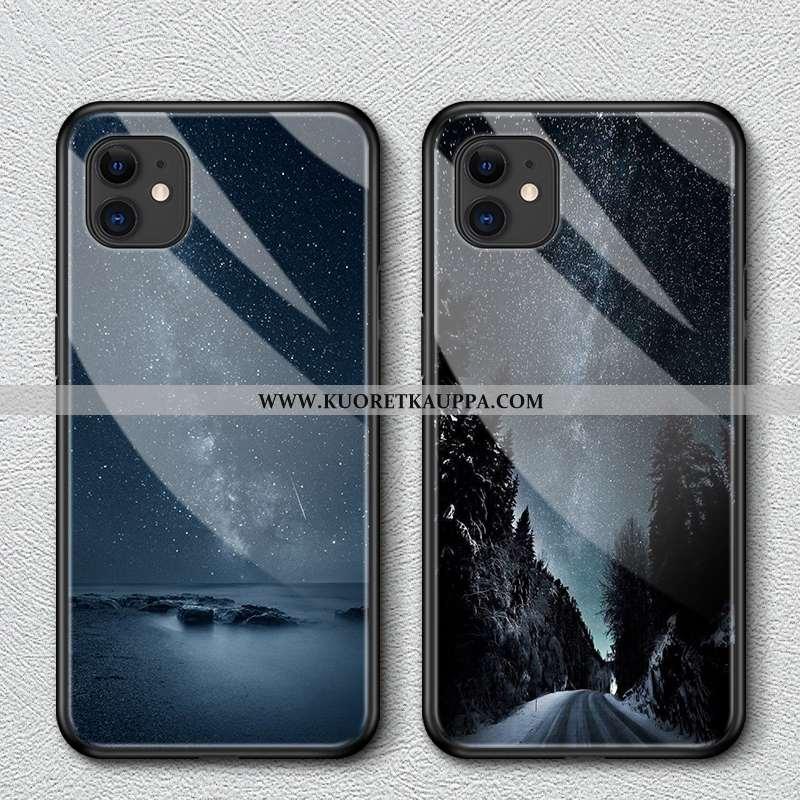 Kuori iPhone 12, Kuoret iPhone 12, Kotelo iPhone 12 Lasi Suuntaus Puhelimen Rotta Mustat