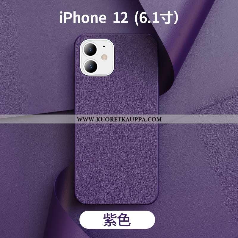Kuori iPhone 12, Kuoret iPhone 12, Kotelo iPhone 12 Nahka Valo Uusi Violetti