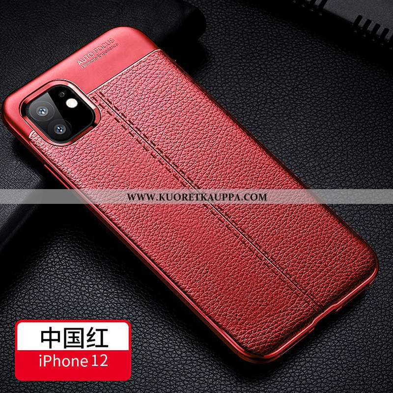 Kuori iPhone 12, Kuoret iPhone 12, Kotelo iPhone 12 Suojaus Suuntaus Net Red Yksinkertainen Silikoni