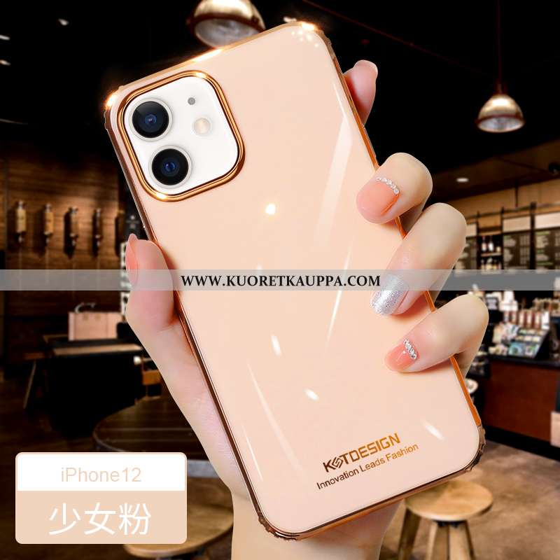 Kuori iPhone 12, Kuoret iPhone 12, Kotelo iPhone 12 Valo Silikoni Uusi Suojaus Murtumaton Pinkki