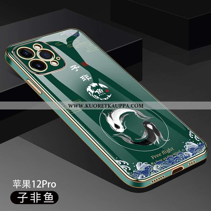 Kuori iPhone 12 Pro, Kuoret iPhone 12 Pro, Kotelo iPhone 12 Pro Suuntaus Ultra Vihreä Valo